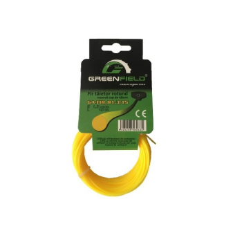 Fir din nailon, profil rotund, 1.3 mm, 15 m, GA-FIR-R1.3/15, Greenfield