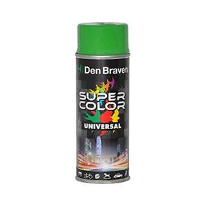 Spray retus universal verde smarald Super Color (RAL 6001) 400 ml, Den Braven