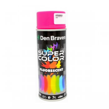 Spray retus vopsea decorativa cu efect fluorescent roz Super Color 400 ml, Den Braven